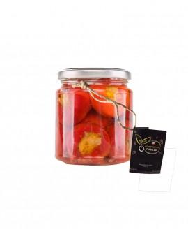 Peperoncini ripieni con Tonno e Capperi in olio extravergine di oliva - vaso 314 ml - Agricola Fusillo