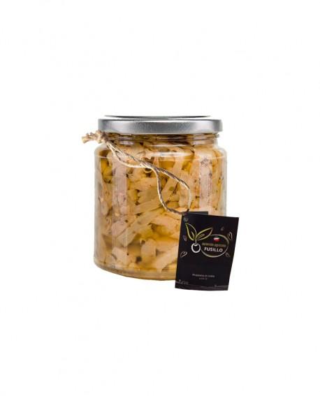 Melanzane a filetti in olio extravergine di oliva - vaso 314 ml - Agricola Fusillo