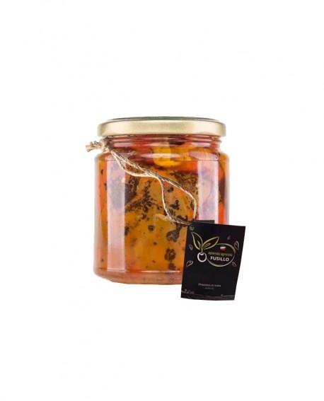 Peperoni grigliati in olio extravergine di oliva - vaso 314 ml - Agricola Fusillo
