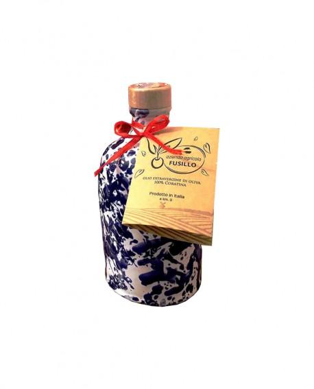 Olio extravergine d'oliva cultivar Coratina - bottiglia di ceramica 250ml - Agricola Fusillo