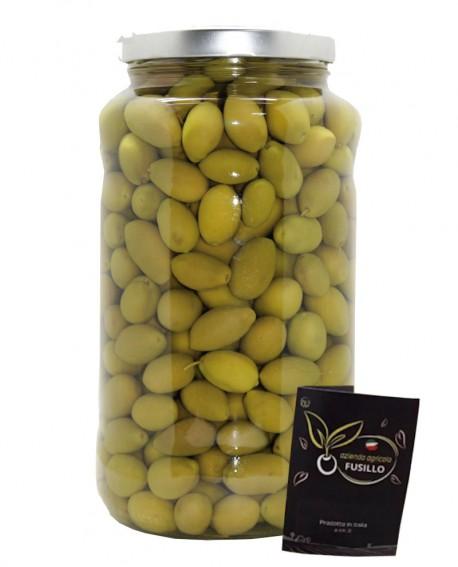 Olive Bella Cerignola in salamoia - pezzatura grande GGG - vaso 3100ml - Agricola Fusillo