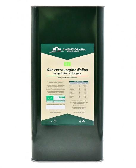 Olio extravergine d'oliva biologico - Classico 100% italiano - Latta 5 Lt - Olio di Puglia Amendolara Bio