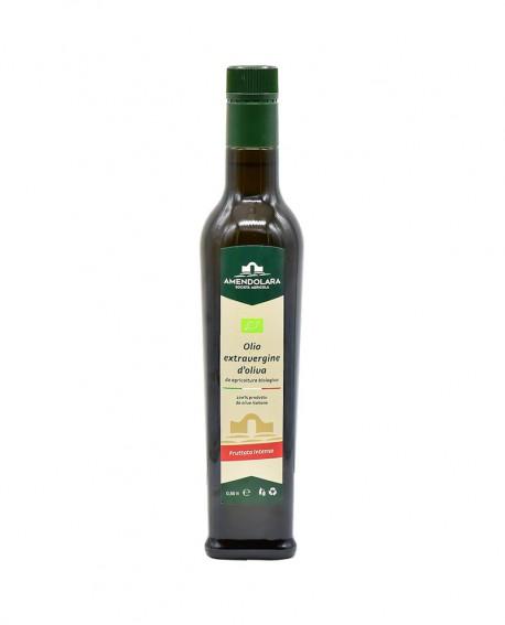 Olio extravergine d'oliva biologico - Fruttato Intenso - bottiglia 0,50 Lt - Olio di Puglia Amendolara Bio