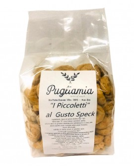 Taralli allo Speck artigianali, I Piccoletti - busta 300g - Forno Pugliamia