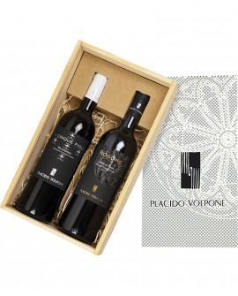 Box regalo in legno da due bottiglie - Cantina Vini Placido Volpone