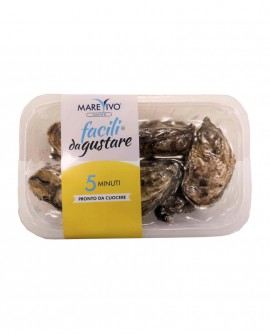 Ostriche Concave - fresco vivo sottovuoto - vaschetta 1kg - scadenza 8 giorni - Pescheria Marevivo Castro