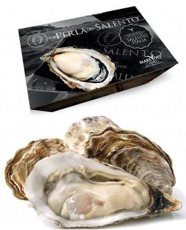 Ostriche La Perla del Salento - fresco vivo - cassetta 1kg - 9/10 pezzi- scadenza 8 giorni - Pescheria Marevivo Castro