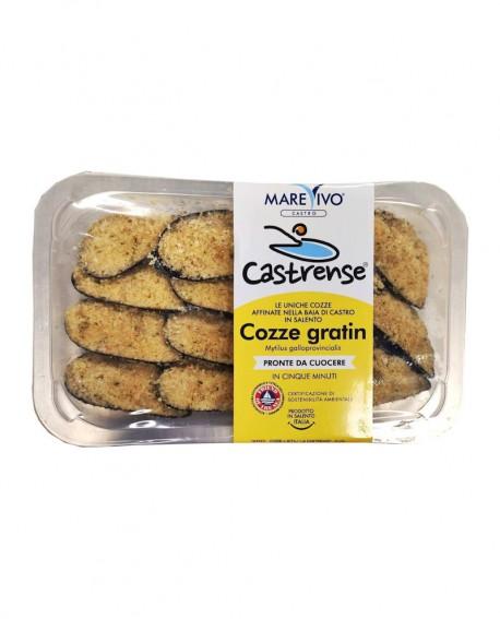 Cozze La Castrense gratinate - Congelato - vaschetta 250g - scadenza 12 mesi - Pescheria Marevivo Castro