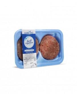 Fish Burger di Tonno Pinna Gialla 100g - Congelato - vaschetta 2 pezzi - scadenza 12 mesi - Pescheria Marevivo Castro