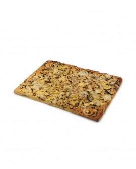 Focaccia con Cipolla Bianca surgelata di semola rimacinata di grano duro - 30x40cm 850g -cartone sfuso n.12 pezzi-Mininni Buene