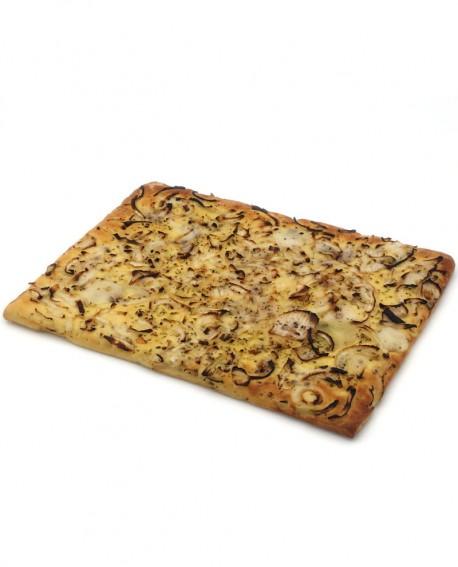 Focaccia con Cipolla Bianca surgelata di semola rimacinata di grano duro - 40x60cm 1700g -cartone sfuso n.6 pezzi -Mininni Buene