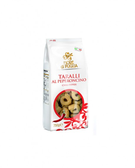 Taralli peperoncino 250 grx 14 pz - Fiore di Puglia