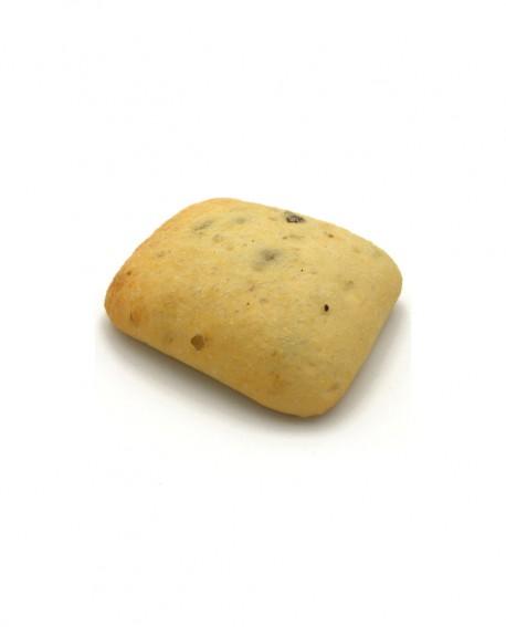 Ciabatta alle Olive surgelata 30g - cartone sfuso n.184 pezzi -Pane Altamura di semola rimacinata di grano duro- Mininni Buene