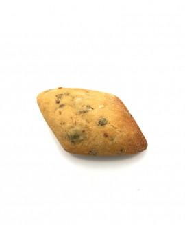Diamante al Peperoncino e Olive surgelato 30g - cartone sfuso n.184 pezzi - Pane Altamura semola di grano duro Mininni Buene