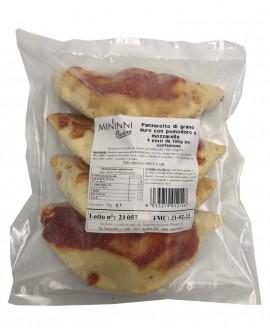 Panzerotto o Calzone pomodoro e mozzarella da forno surgelato - 130g - in busta 4 pezzi - cartone n.8 buste - Mininni Buene