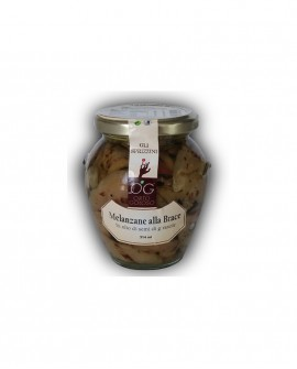 Filetti di Melanzane alla Brace in olio di semi di girasole - vaso in vetro 314 ml - gli sprizzini - Orto Goloso