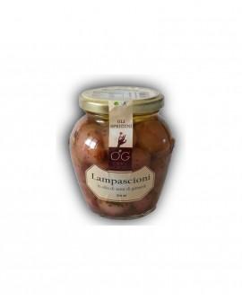 Lampascioni in olio di semi di girasole - vaso in vetro 314 ml - gli sprizzini - Orto Goloso