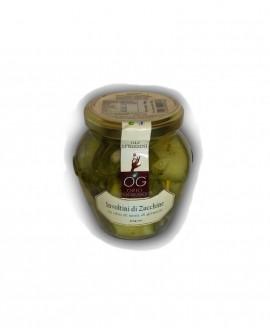 Involtini di Zucchine in olio di semi di girasole - vaso in vetro 314 ml - gli sprizzini - Orto Goloso