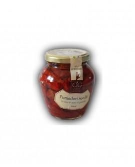 Pomodori Secchi in olio di semi di girasole - vaso in vetro 314 ml - gli sprizzini - Orto Goloso