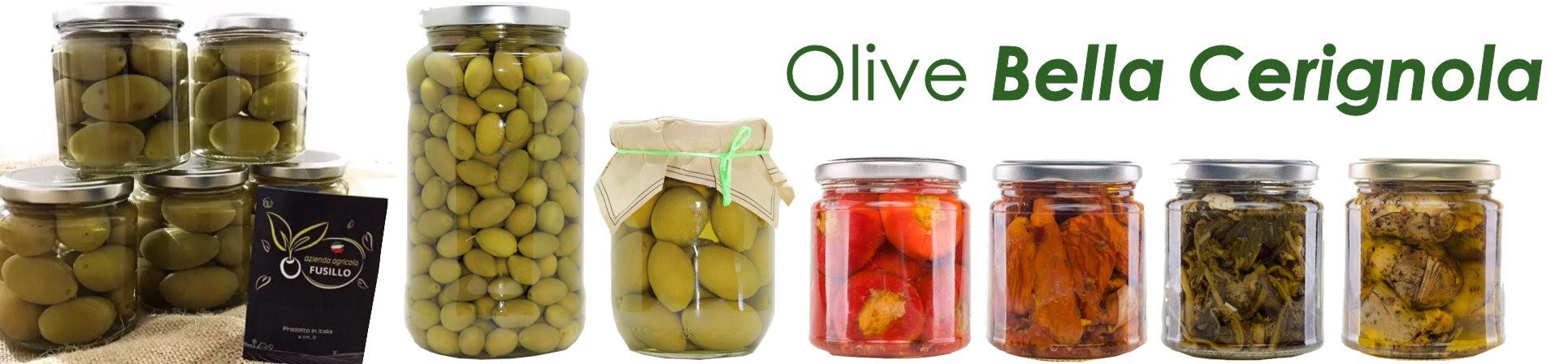 vendita online olive Bella Cerignola e sottoli - AGRICOLA FUSILLO